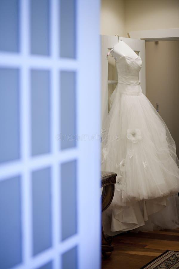 Anticipación del vestido de boda imágenes de archivo libres de regalías