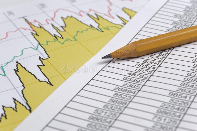 Anticipation commerciale de finances photographie stock libre de droits