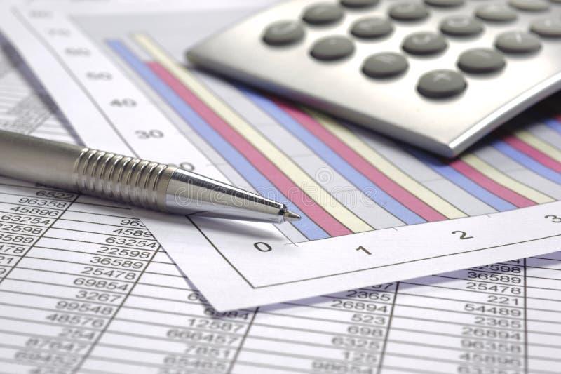 Anticipation commerciale de finances photo stock