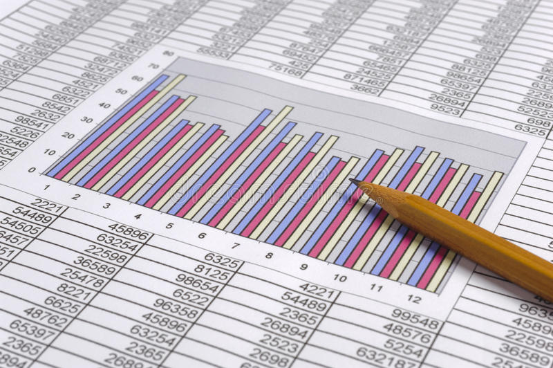 Anticipation commerciale de finances image stock