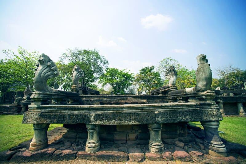 Antico al parco storico di Phimai, Tailandia immagini stock