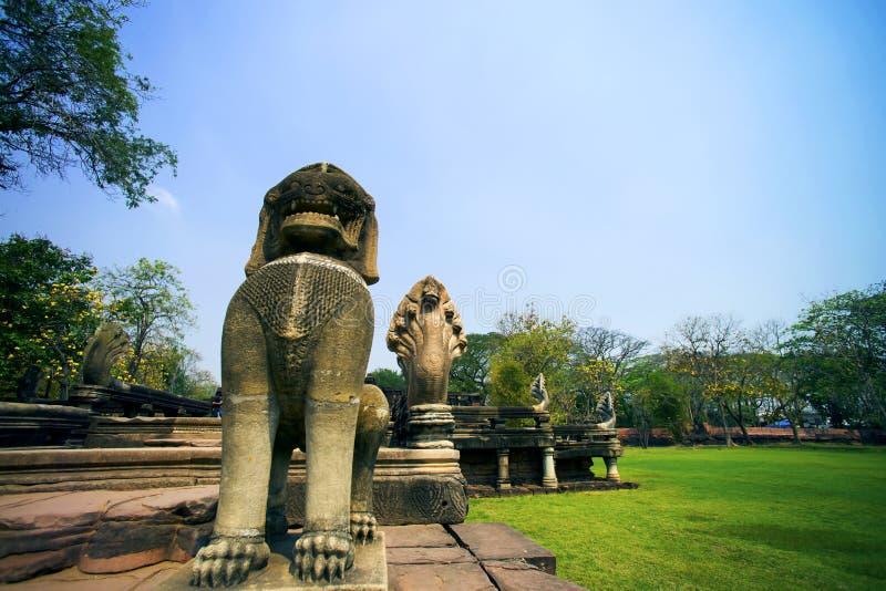 Antico al parco storico di Phimai, Tailandia immagine stock