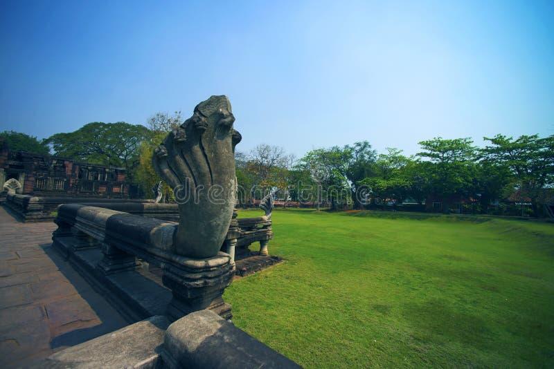 Antico al parco storico di Phimai, Tailandia fotografie stock