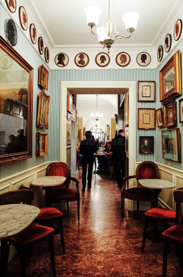Antico Caffe Greco, la più vecchia barra a Roma immagine stock libera da diritti