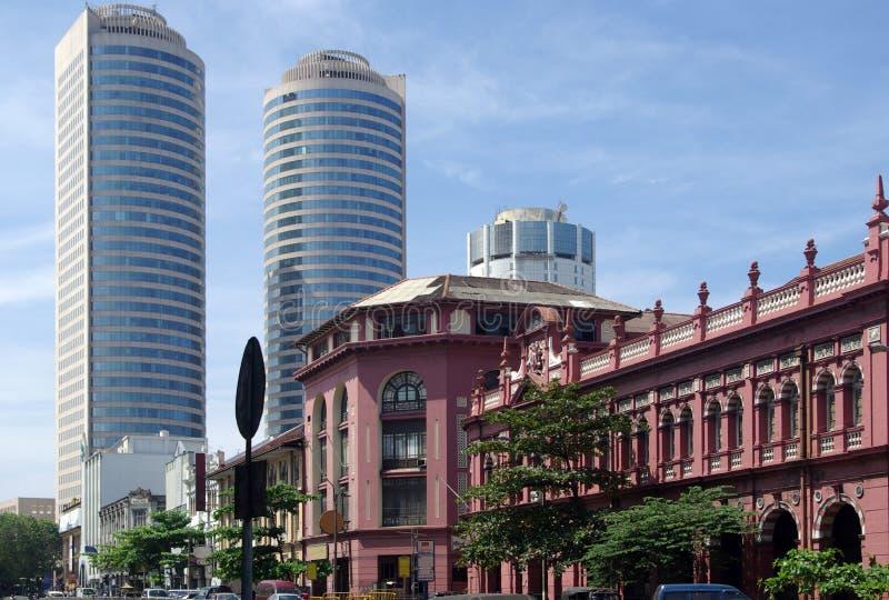 Antico e moderno, Colombo, Sri Lanka fotografia stock libera da diritti