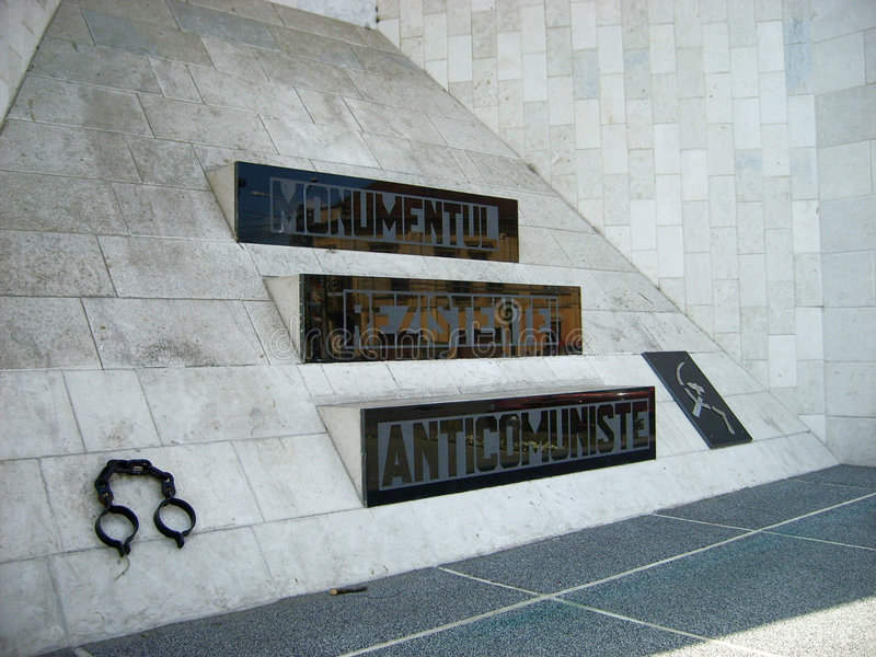 Anticommunist monument stock photo