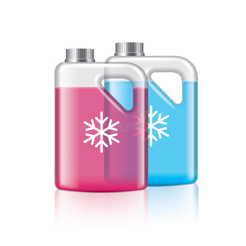 Anticongelante en el vector blanco stock de ilustración