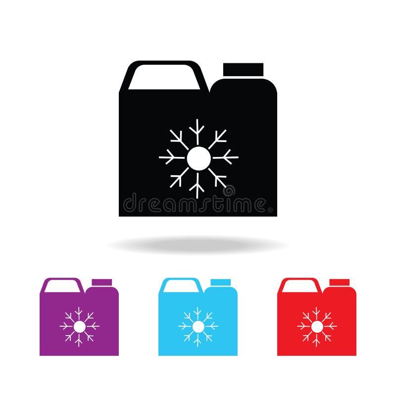 anticongelante Silhueta vasilha ícone Elementos ícones coloridos do reparo do carro de multi Ícone superior do projeto gráfico da ilustração do vetor