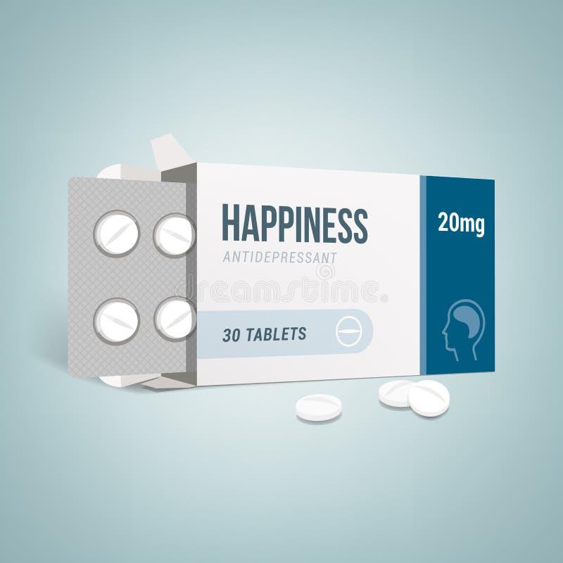 Antidepressivumdrogenkasten stock abbildung