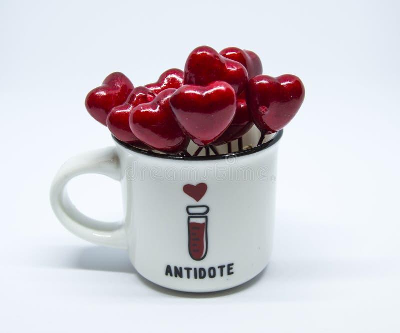 Antidotum w filiżance zdjęcie stock