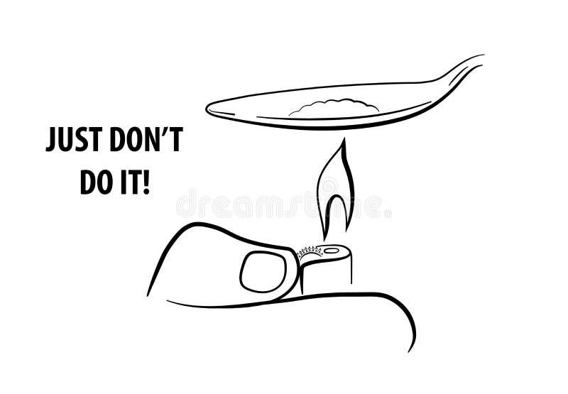Antidrugslogan stock illustratie