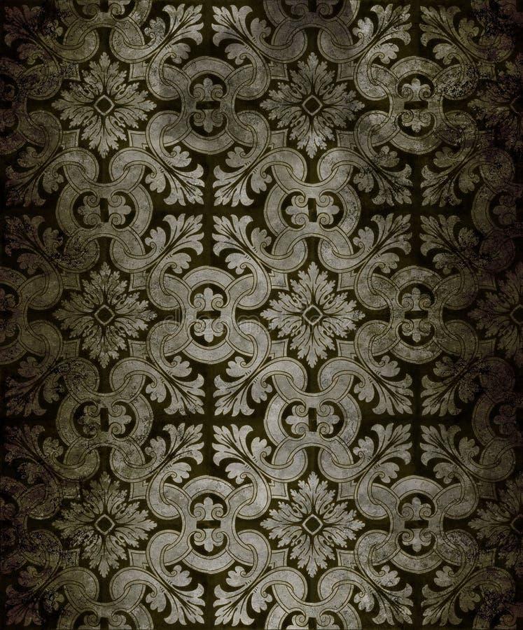 Antiek behang royalty-vrije stock afbeeldingen