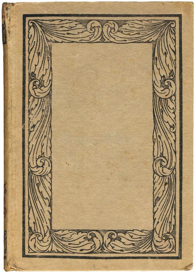 Antiek boek met bloemenframe royalty-vrije illustratie