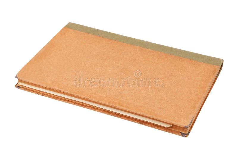 Antiek boek op wit royalty-vrije stock afbeelding