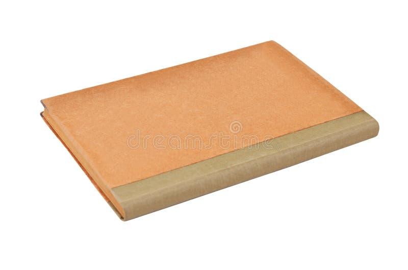 Antiek boek op wit stock afbeelding
