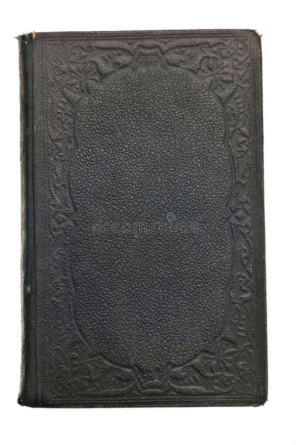 Antiek boek van 1800's die op wit wordt geïsoleerdb stock foto's