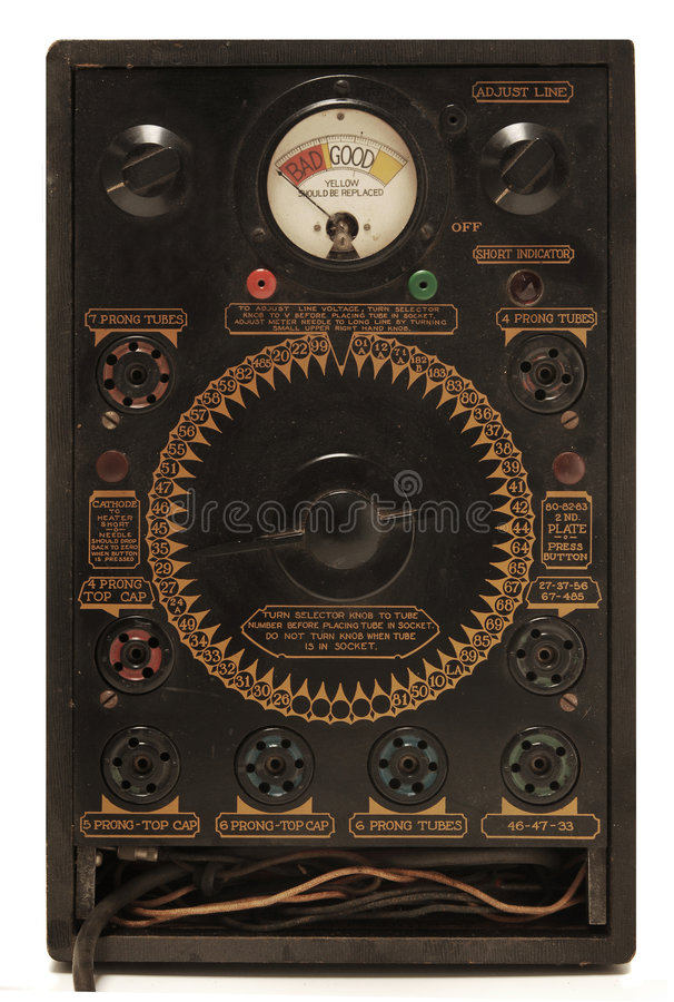 Antiek buismeetapparaat royalty-vrije stock foto's
