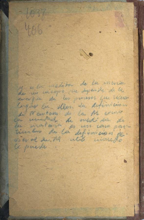Antiek document stock foto