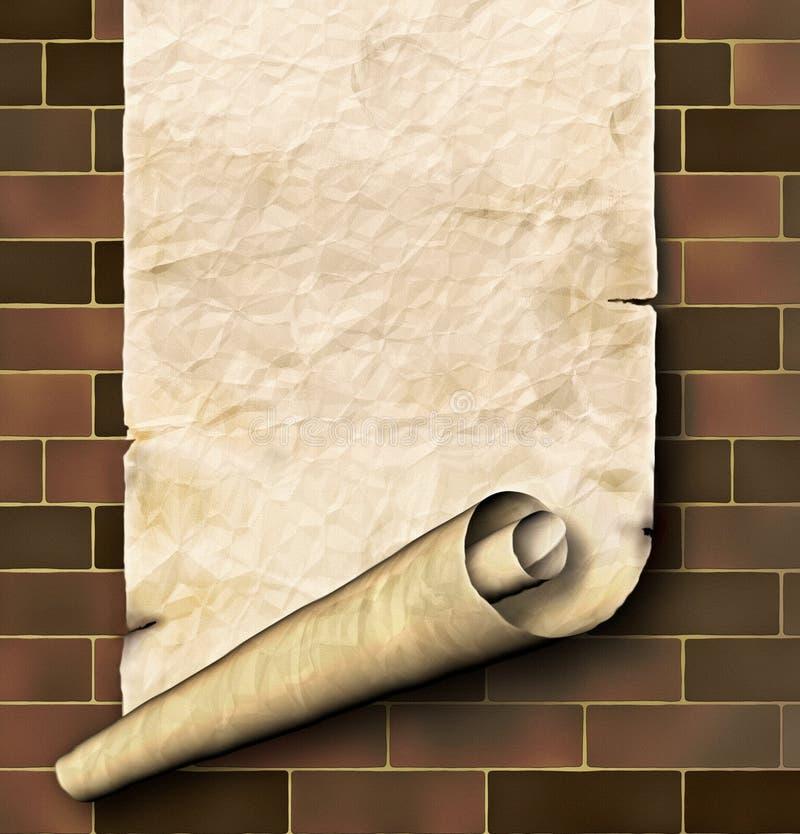Antiek document royalty-vrije illustratie