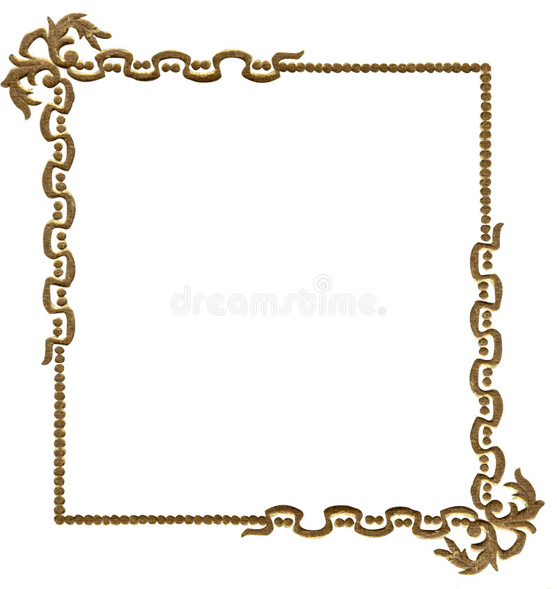 Antiek fotoframe royalty-vrije illustratie