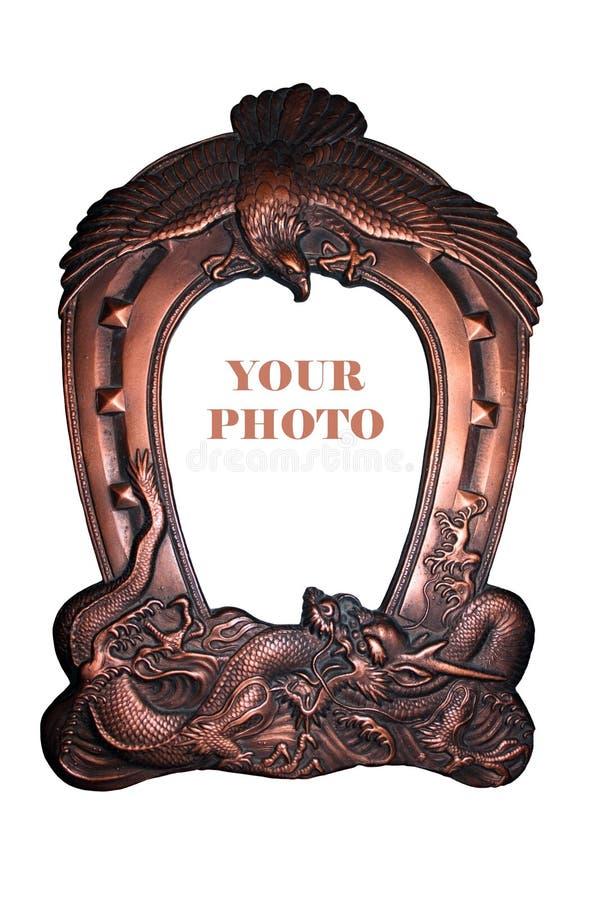 Antiek Fotoframe Royalty-vrije Stock Afbeeldingen