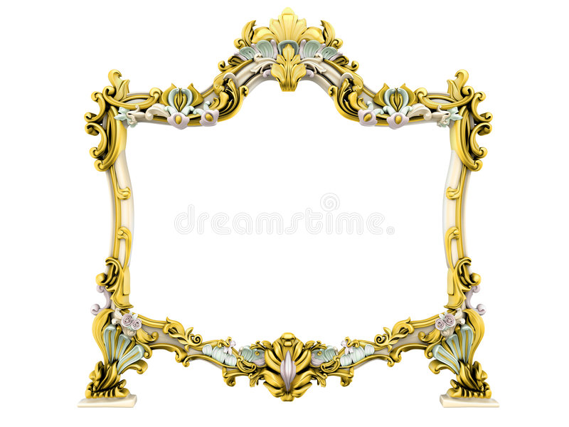 Antiek frame stock illustratie