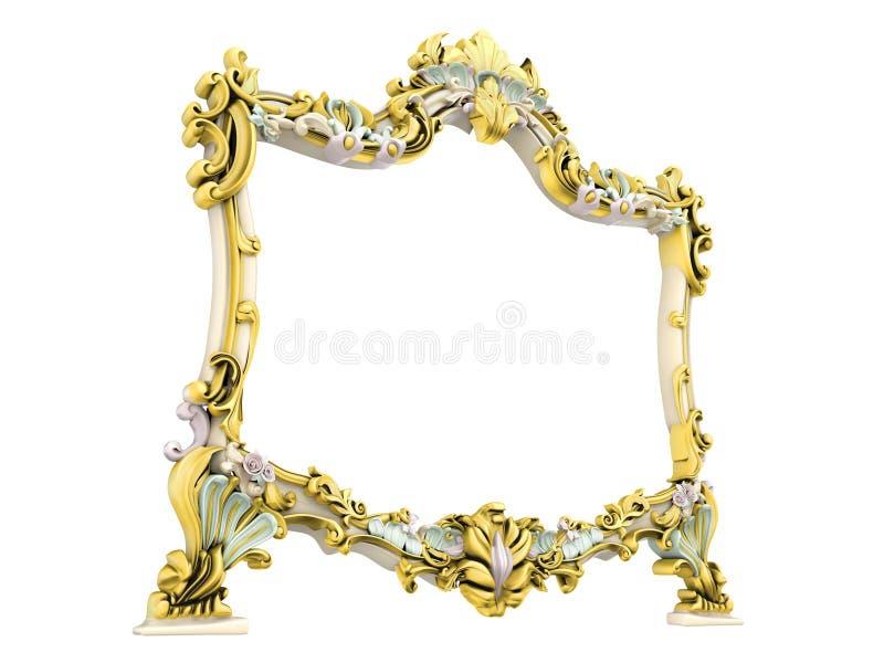 Antiek frame royalty-vrije illustratie