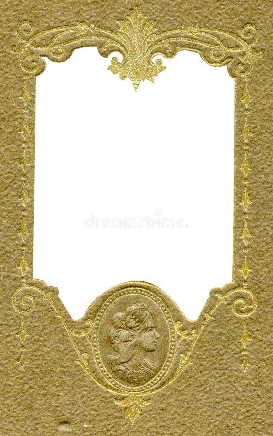 Antiek frame met kamee stock foto