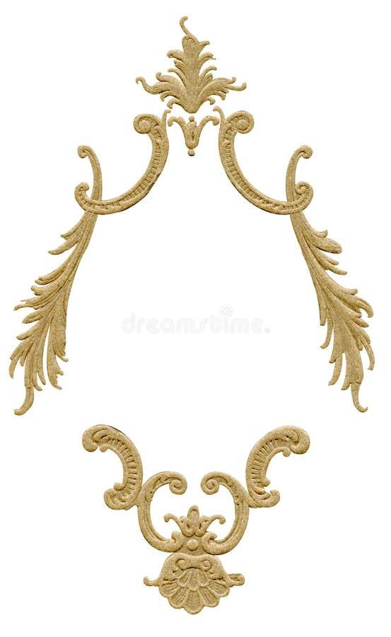 Antiek frame ontwerp royalty-vrije stock foto's