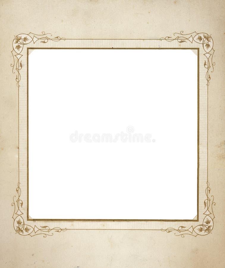 Antiek frame van de medio jaren 1900 royalty-vrije stock afbeeldingen