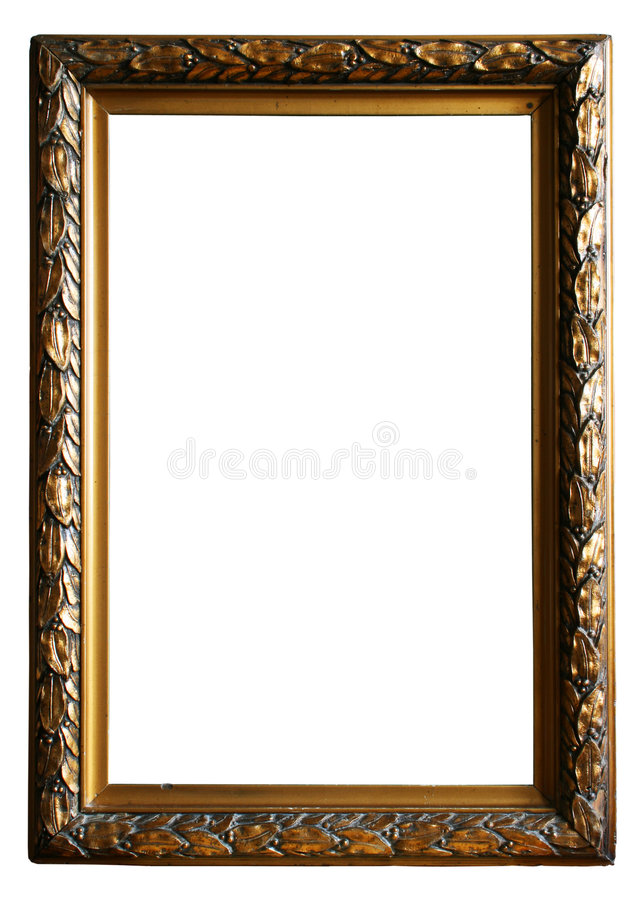 Antiek Gouden frame stock foto