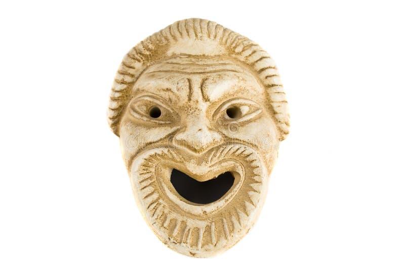 Antiek Grieks masker royalty-vrije stock afbeeldingen