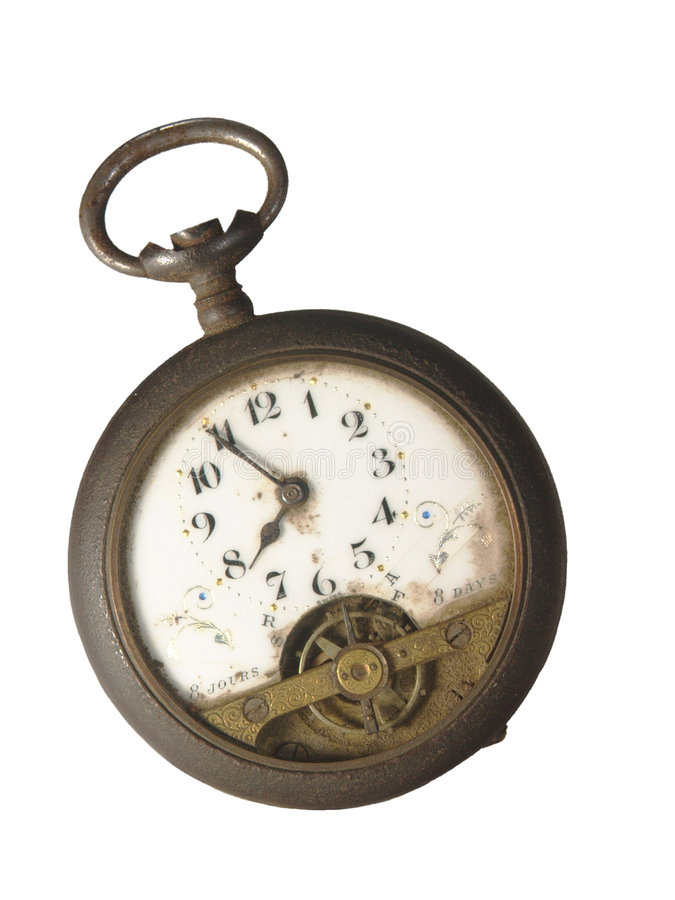 Antiek Horloge stock afbeelding