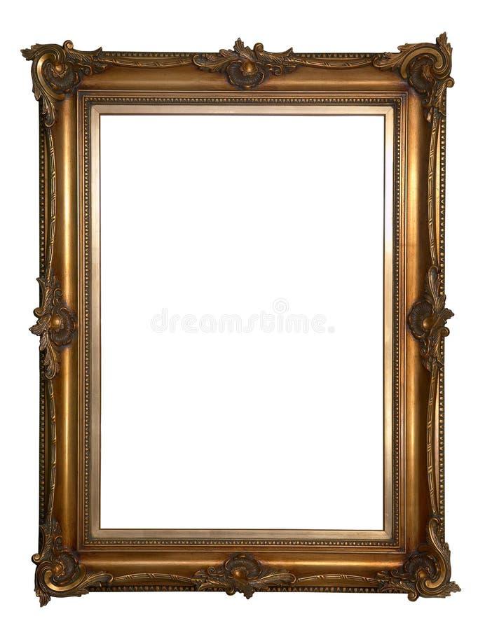 Antiek houten frame royalty-vrije stock afbeelding