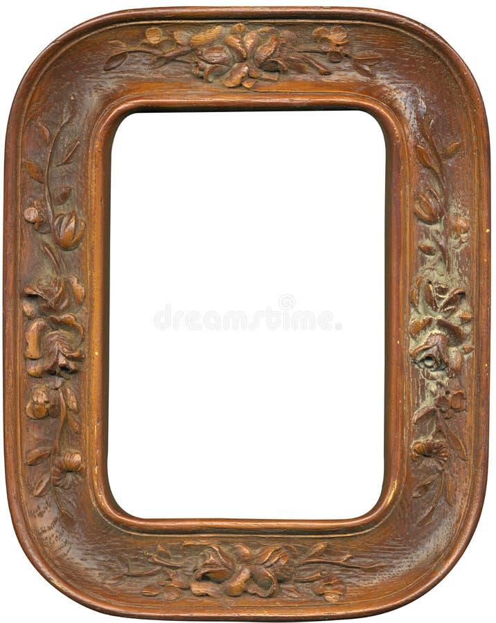 Antiek houten frame stock fotografie