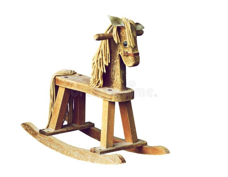 Antiek houten hobbelpaard. royalty-vrije stock afbeelding