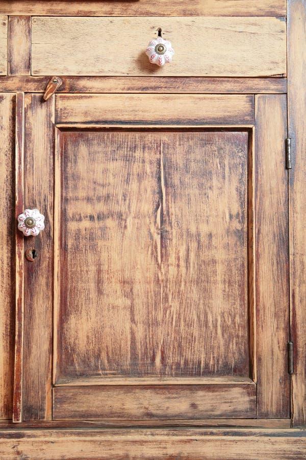 Antiek houten meubilair stock afbeeldingen