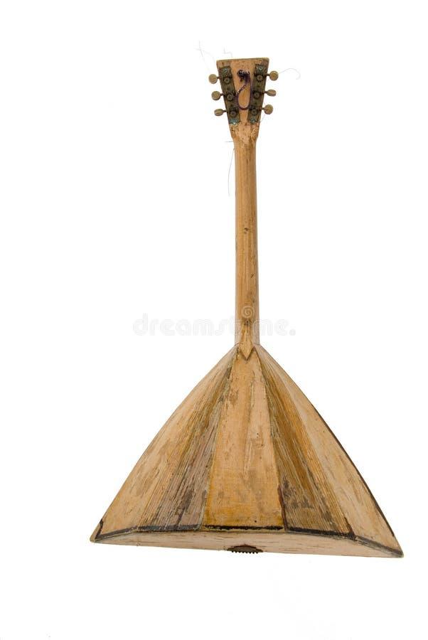 Antiek houten muzikaal instrument stock afbeelding
