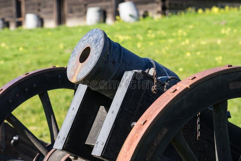 Antiek kanon bij Fort Ross royalty-vrije stock afbeelding