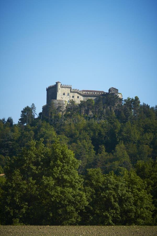 Antiek kasteel in Fosdinovo, Toscanië, Italië royalty-vrije stock afbeelding