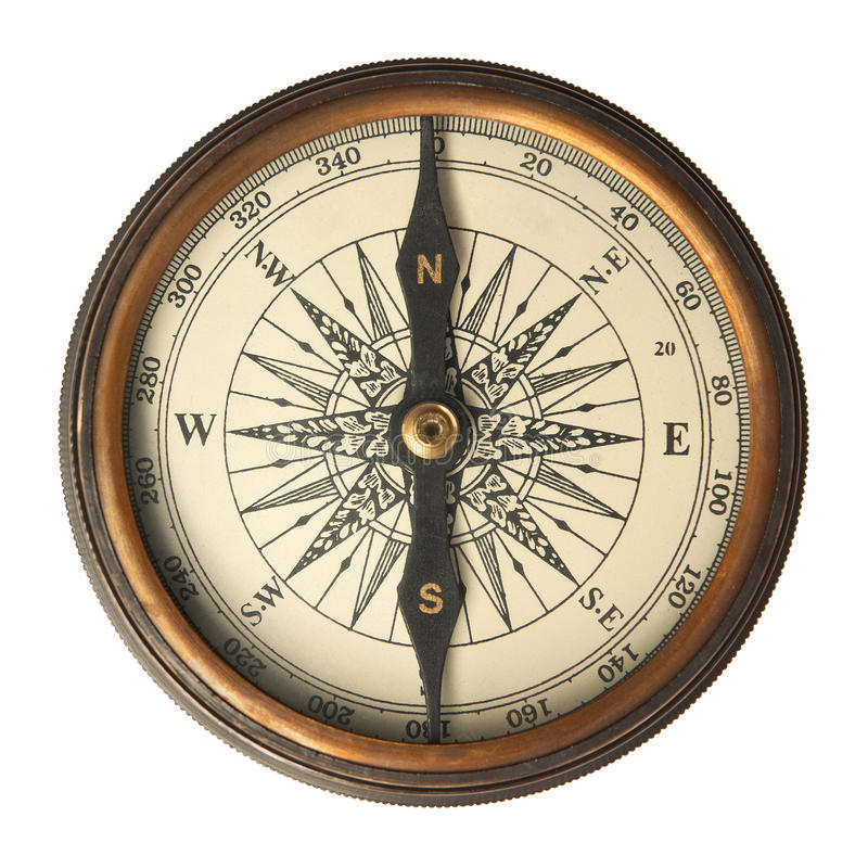 Antiek Kompas royalty-vrije stock foto's