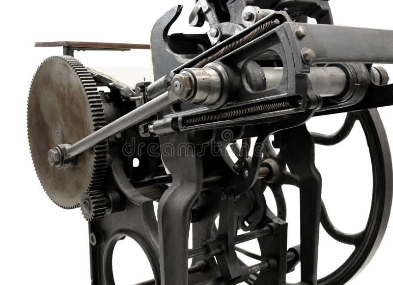 Antiek letterzetsel stock foto