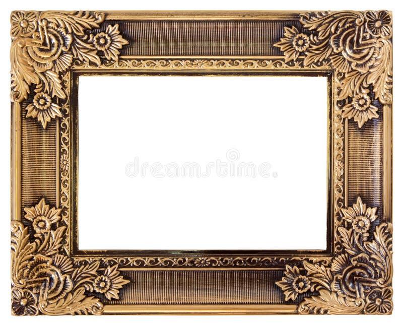 Het gouden kader van de liefde royalty-vrije stock foto