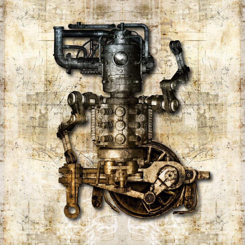 Antiek mechanisch cijfer vector illustratie