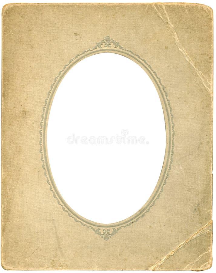 Antiek ovaal frame stock afbeelding