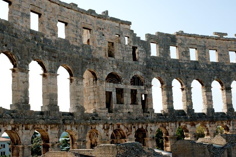 Antiek Roman forum in Pula royalty-vrije stock fotografie