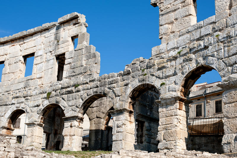 Antiek Roman forum in Pula royalty-vrije stock afbeelding