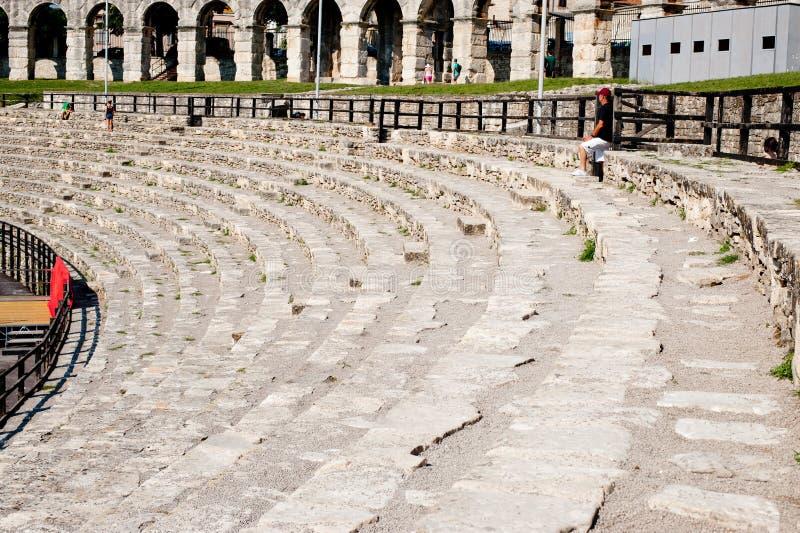 Antiek Roman forum in Pula royalty-vrije stock afbeeldingen