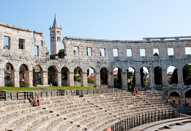 Antiek Roman forum in Pula royalty-vrije stock foto
