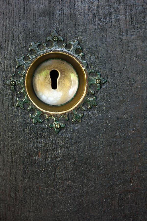 Antiek sleutelgat stock foto